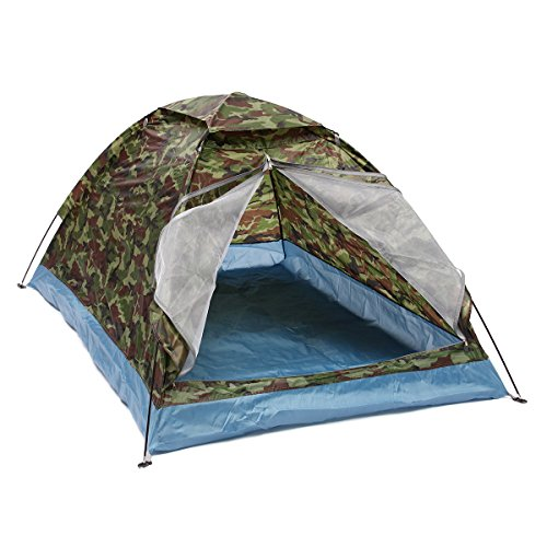 2 Persons Camping Tent Sunshade Double-layer Waterproof Windproof Anti-UV Sun Shading Shelter Outdoor Hiking - 1PCs