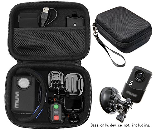 Professional Body camera and action camera case for Veho VCC003, VCC005 MUVI HD10 and HDPRO, PNZEO F5, Transcend TS32GDPB10A, Pyle PPBCM9, Miufly 1296P, R-Tech HD Night Version camera, SD card Pockets