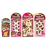 130 pc Chocolate Scented Scratch and Sniff Stickers