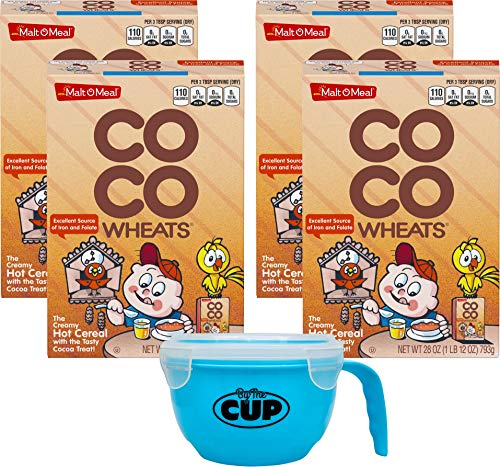 - Malt O Meal CoCo Wheats 28 Ounce (Pack of 4) with By The Cup Cereal Bowl