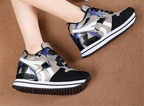 Women's Luxury Out Wedges Comfort Work Blue Sneakers Walking Fitness Shoes Toning Platform Oq1dwC1