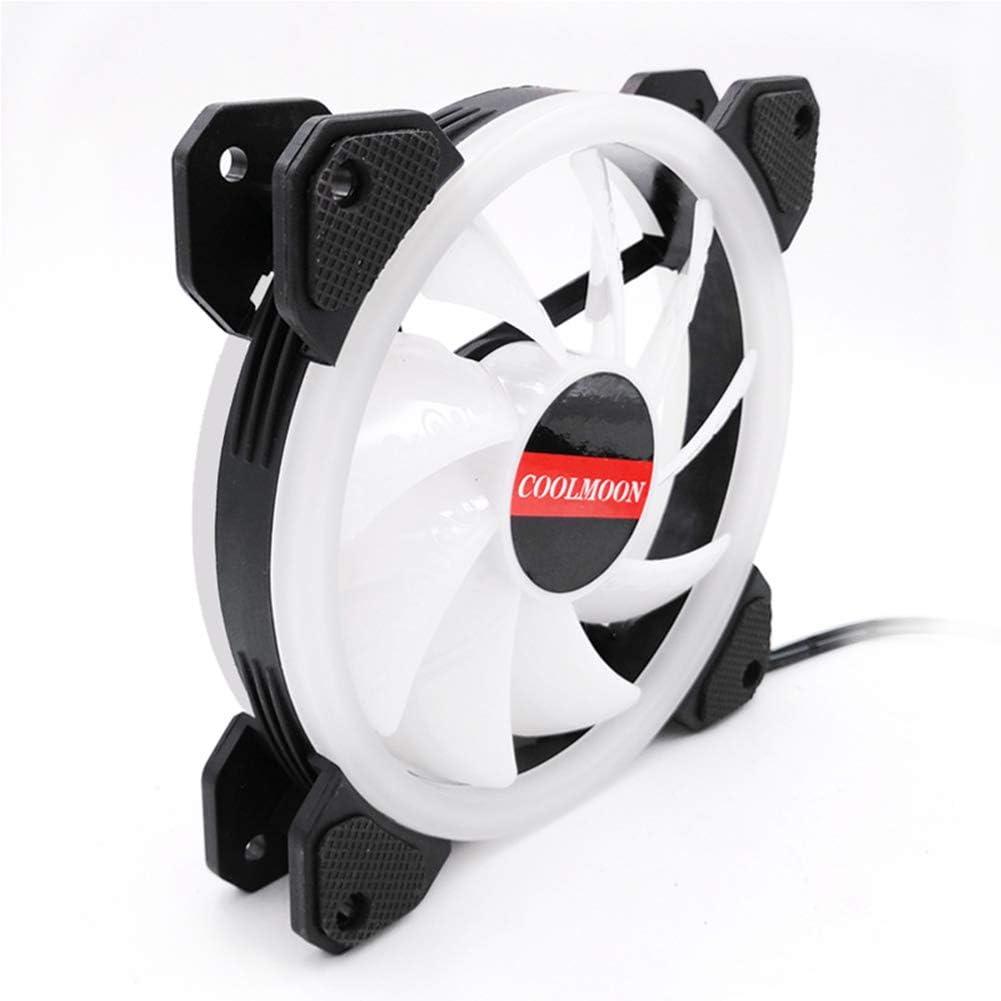 RONSHIN Wireless Fan-Cooling FanWireless Fan,12cm Cool LED Light PC Computer Chassis Fan Super Silent Cooling Fan