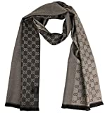 Gucci Unisex Brown Lana Wool Scarf With Tag 344994 9764