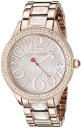 Betsey Johnson Women's BJ00478-01 Analog Display Quartz Rose Gold Watch