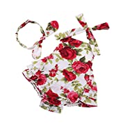Ruffle Shirt for Baby Girl 6-12 Months ropa de Bebe nina,red3,7-12 Months(Size M)