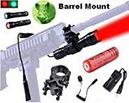 WindFire® [A Complete Set] 100 Yard GREEN and RED LED Coyote Hog Hunting Light Tactical Flashlight Torch GREEN