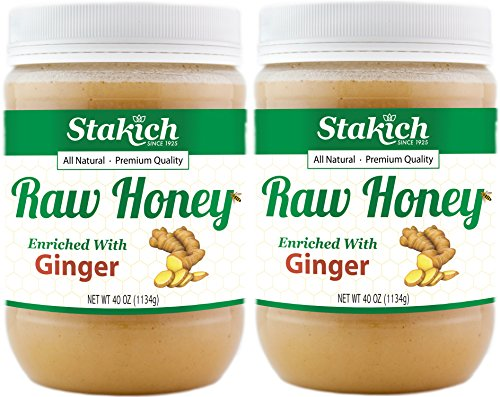 Stakich GINGER Enriched RAW HONEY