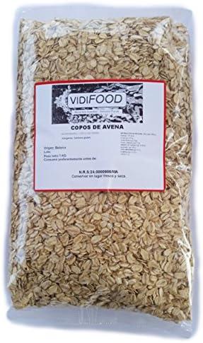 VidiFood Copos de avena Cereal - 1 kg: Amazon.es: Alimentación y ...