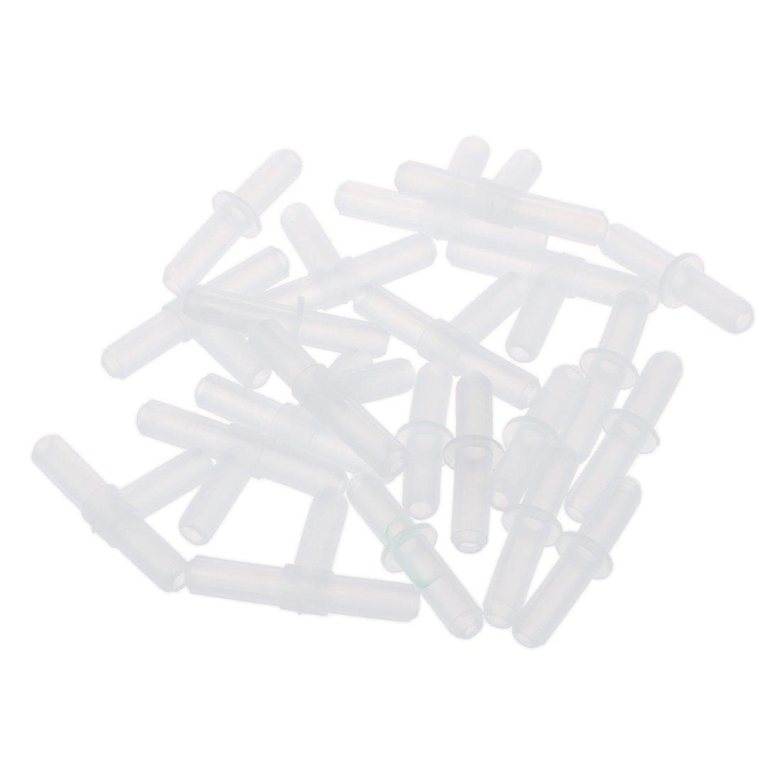 SODIAL 10 pcs T shaped 10 pieces Straight Aquarium flight tube filter adapter