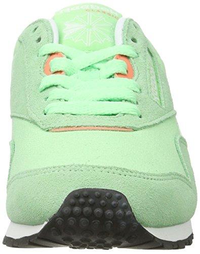 Reebok CL Nylon Slim HV, Sneakers Femme Vert (Mint/bottle Green/white)