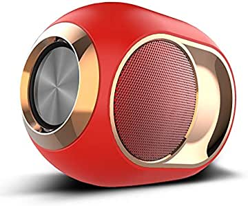 ZYZRYP X6 Bluetooth 5.0 Speaker TWS Portable Wireless Loudspeakers For Phone PC Waterproof Outdoor Stereo Music Support TF AUX USB FM (Color : Red)