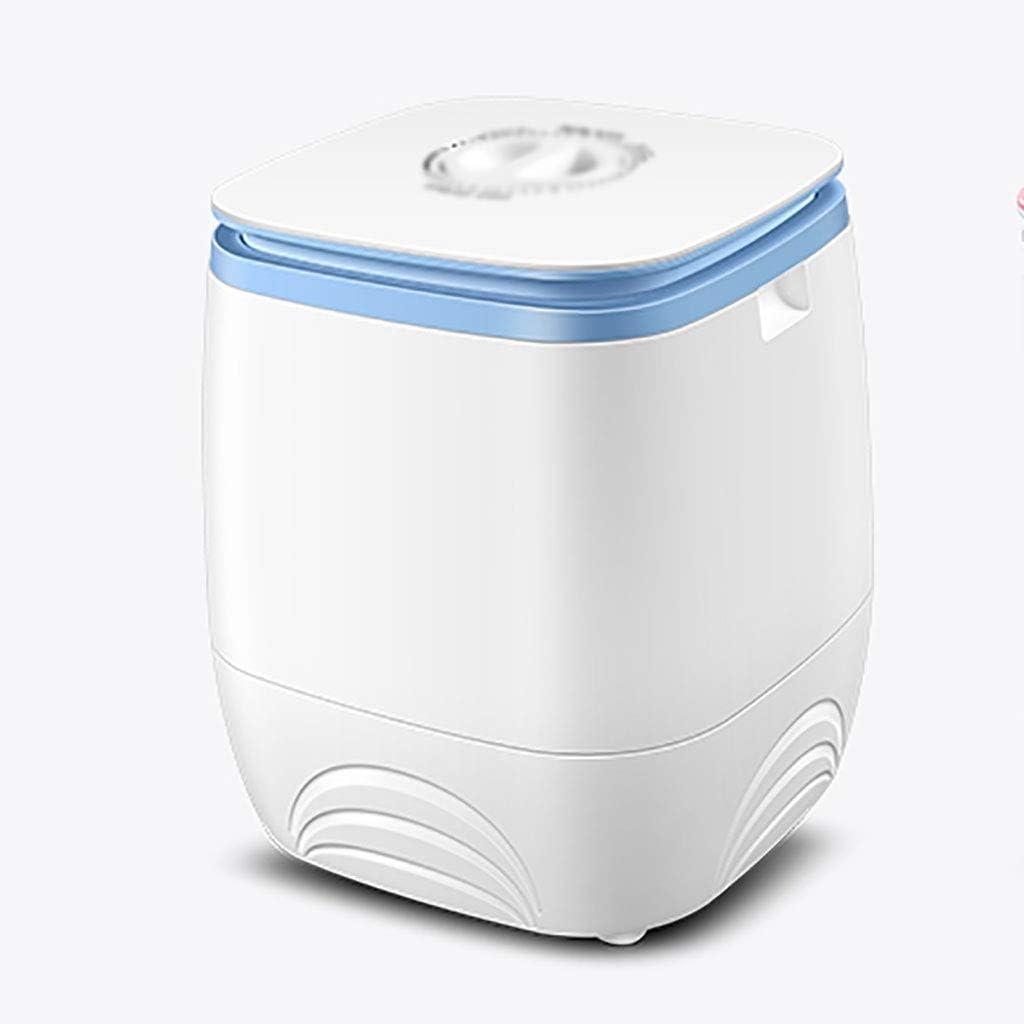 XXYJ Lavadora portatil Lavadora balcón Sala de Lavado, portátil Mini máquina de Lavar, Lavadora pequeña, Lavadora semiautomática, el Ahorro de Espacio (Rosa, Blanco) (Color : White)
