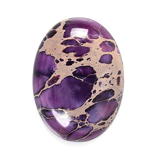 25x18mm Oval Cabochon CAB Flatback Semi-precious Gemstone Ring Face (Purple Sea Sediment Jasper)