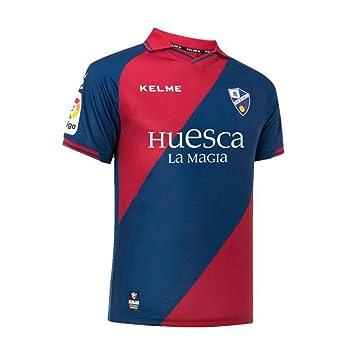 KELME SD Huesca Primera Equipación 2018-2019, Camiseta, Marino-Granate: Amazon.es: Deportes y aire libre