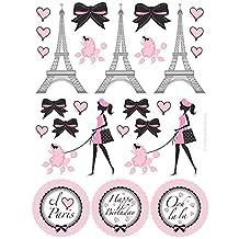 Paris Party Sticker Favors (4 Sheets)