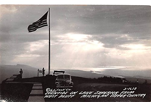 Eventide on Lake Superior From West Bluff Copper Country, Michigan postcard