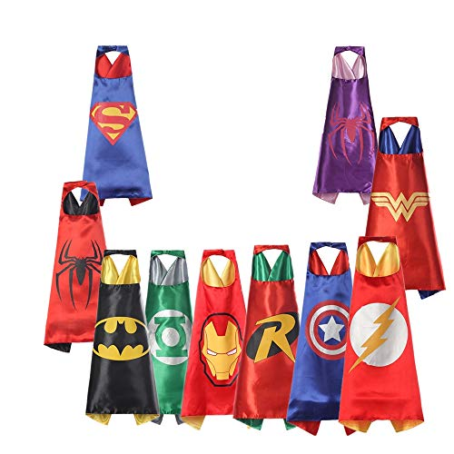 Dress-up Superhero Capes and Masks for Kids Reversible
