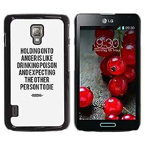 Cubierta protectora del caso de Shell Plástico    LG Optimus L7 II P710 / L7X P714    Problem Keep Calm Motivational @XPTECH