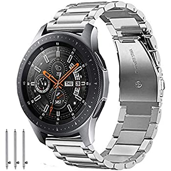 Olytop Galaxy Watch (46mm) Bands/Gear S3 Bands, 22mm Stainless Steel Metal Bands Replacement Strap Bracelet for Galaxy Watch 46mm & Gear S3 & Ticwatch ...