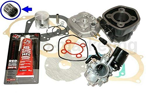 Unbranded 70cc Racing D47 Cilindro Assy CARBURATORE Kit per Aprilia SR 50 Stealth