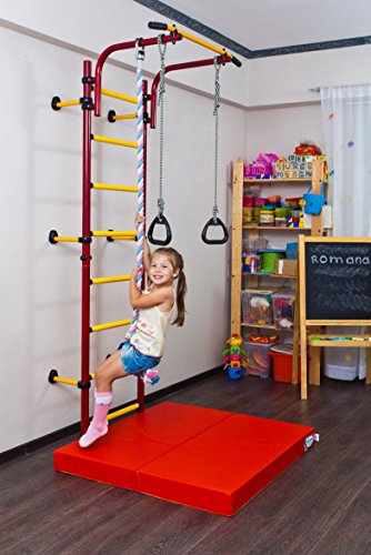 Comet NEXT1 Kids Indoor Home Gym Swedish wall+Pullup+Rings+Clmb Rope