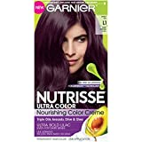 Garnier Nutrisse Ultra Color Nourishing Hair Color Creme, L1 Deep Intense Lilac, Sweet Fig (Packaging May Vary)