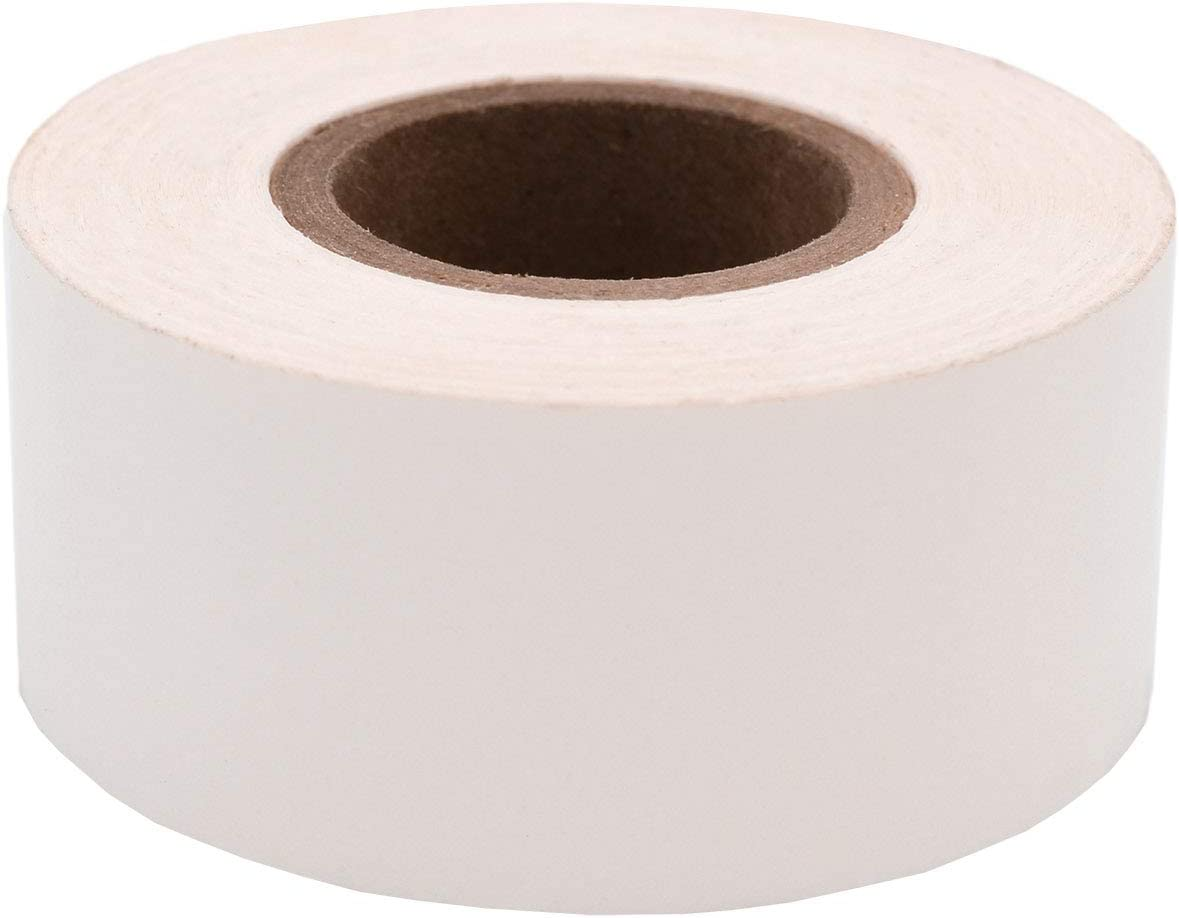 ChromaLabel 1 Inch Clean Remove Color-Code Tape, 500 Inch Roll, White