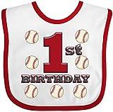 Inktastic - First Birthday Baseball Baby Bib