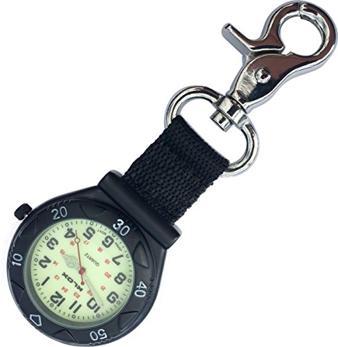 Glow in The Dark - Black Belt Fob Watch with Nylon Strap