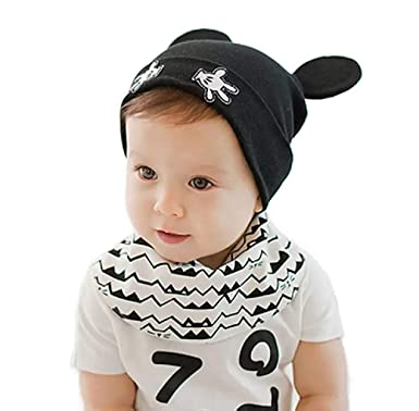 Ziory Black Winter Warm Cotton Beanie Hat Toddler For Baby Girls And Boys  Caps - 1Pcs a98992ae959