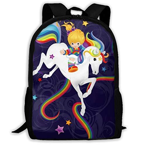 JIFHS Rainbow Brite and Starlite Memories Laptop Backpack Elegant Casual Daypacks Outdoor Sports Rucksack School Shoulder Bag for Men - Backpack Rainbow Brite