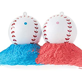 Pink And Blue Balls Included Realistic Gender Reveal Party Baseballs Free Shipping!