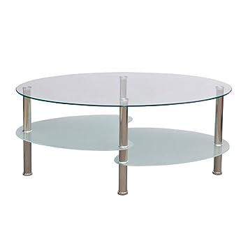 VidaXL Couchtisch Beistelltisch Tisch Wohnzimmertisch Glastisch 3