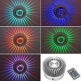 XCSOURCE 3W High Power LED Ceiling Light Wall Light Sconce RGB Lighting Home Decor Fixture + IR Remote Controller LD649
