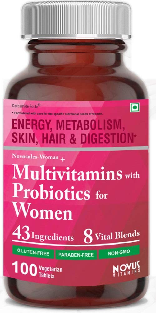 Carbamide Forte Multivitamin for Women with Probiotics containing 43 Ingredients & 8 Vital Blends - 100 Veg Tablets product image