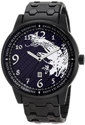 Ed Hardy Men's MD-BK Midnight Black Watch