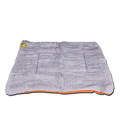 PETPAWJOY Dogs Blanket, Crate Pad Cat Bed Dog Crate Cushions Pad Washable Filling Pads Soft Furry Pet Bed Mat 33x31x1.5 inch -