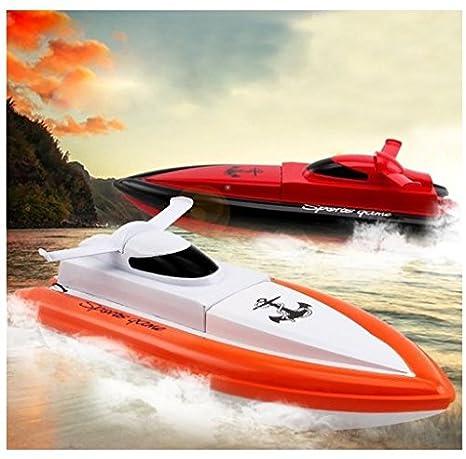 DeeXop - Barco de Carreras eléctrico con Mando a Distancia para niños y Adultos (2,4 GHz, RC, Funciona Solo en Agua), 2 Unidades: Amazon.es: Juguetes y ...