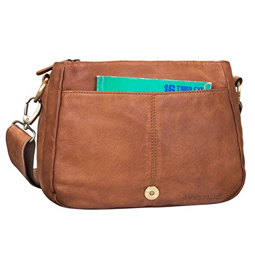 Bag Bag 'Mia' for Cross Bag Vintage Shoulder Shopping Party Body Brown Freetime Girona Genuine for Leather girona STILORD Colour Ladies Leather Small Hand Braided in Women Brown OqdwZWzz