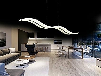 Create For Life Modern Wave LED Pendant Light Fixture Ceiling Chandelier  Light LED Hanging Light Fixture