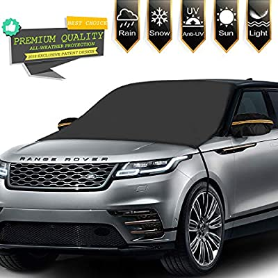 Tobion Windshield Snow Cover Magnetic Edges & Rear Mirror Cover Windshield Frost Covers Anti Foil Ice Dust Waterproof Sun Protector All Cars, Trucks, SUVs, MPVs for Vehicle