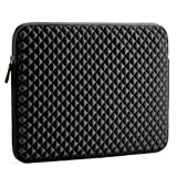 Laptop Sleeve, Evecase 15~15.6 inch Diamond Foam Splash & Shock Resistant Neoprene Universal Sleeve Zipper Case Bag for ASUS ACER HP LENOVO DELL TOSHIBA SAMSUNG Chromebook Ultrabook Notebook - Black