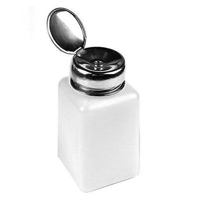 Ndier de uñas 200ml Quitaesmalte alcohol líquido Prensa de bombeo del dispensador de la botella vacía