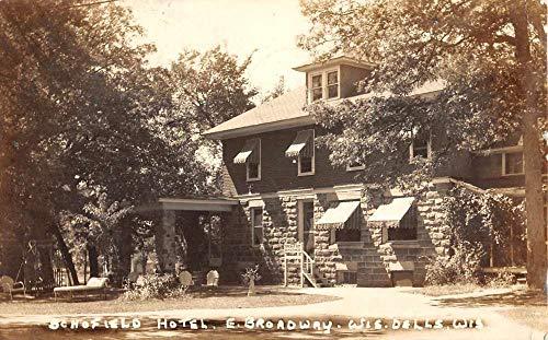 Wisconsin Dells Wisconsin Schofield Hotel Real Photo Antique Postcard ()