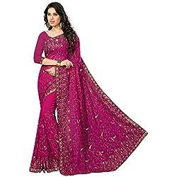 Indian Bollywood festival Special Magenta Georgette Party Wear Designer Wedding Saree Sari