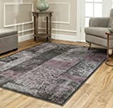 Safavieh Paradise Collection PAR100-330 Charcoal and Multi Viscose Area Rug (5'3″ x 7'6″) Review