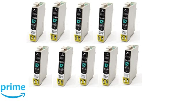 10x Compatible tinta cartuchos reemplazo for EPSON T1291 con CHIP ...