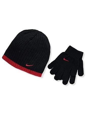 c80df5e6 Amazon.com: Nike Boy`s Knit Beanie & Gloves Set: Sports & Outdoors