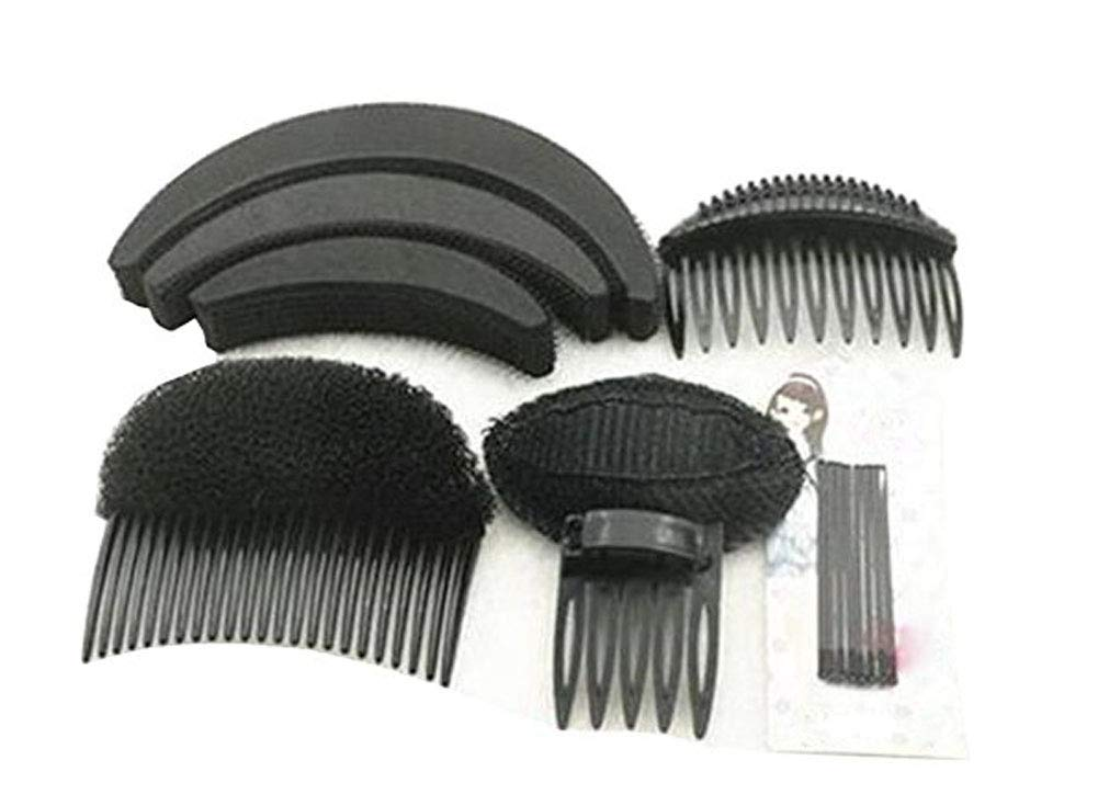 1Set Professional Hair Styling Tools-Hair Volume Bump it Up Base Comb Hair Pin Hair Clip Hair Styling Accessories Tool Kit(Black) SYBL