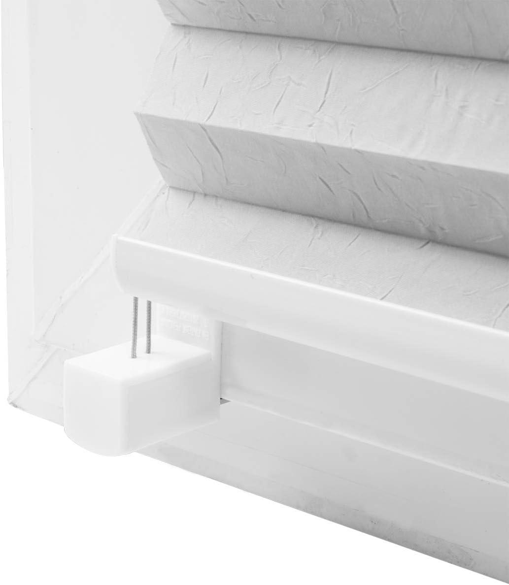 Eurohome Plissee klemmfix ohne Bohren f/ür Fenster 60x130cm Grau